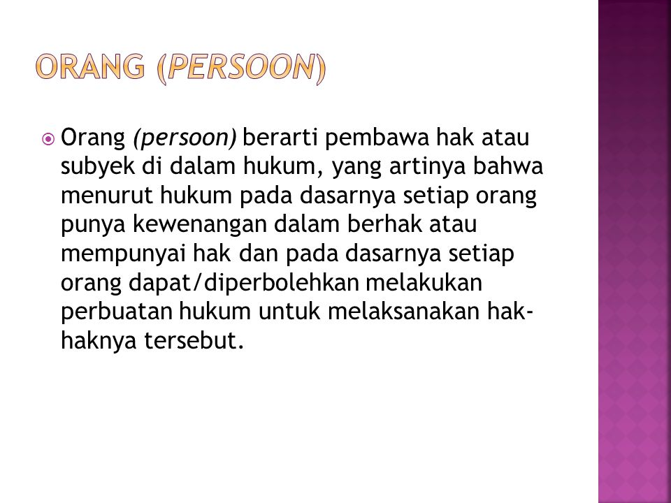 Orang (persoon)
