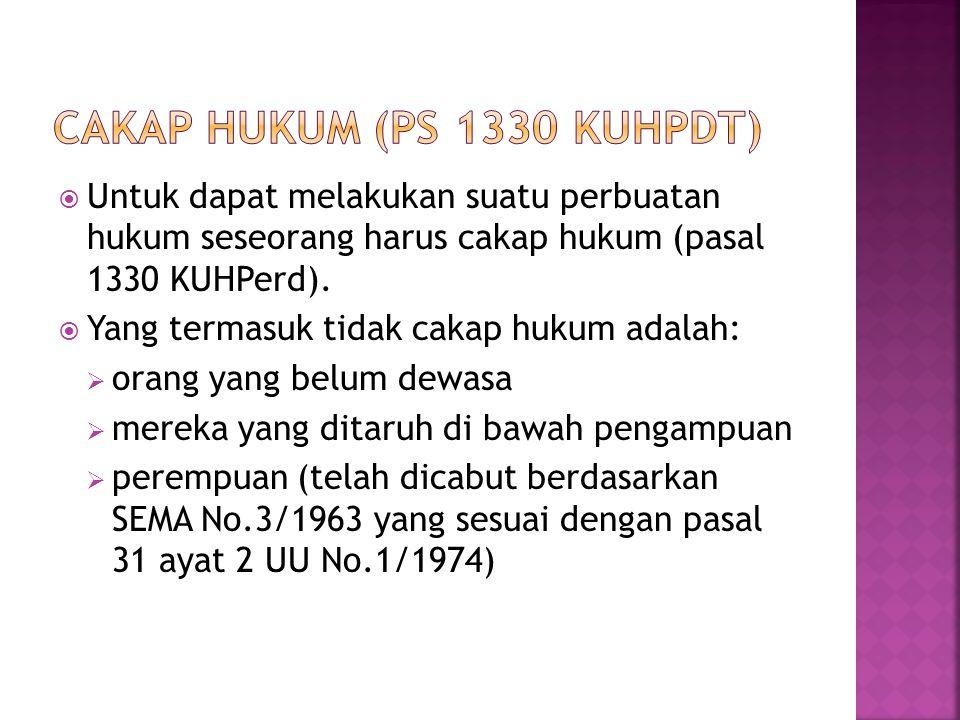 CAKAP HUKUM (PS 1330 KUHPDT)