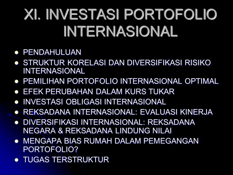 XI. INVESTASI PORTOFOLIO INTERNASIONAL