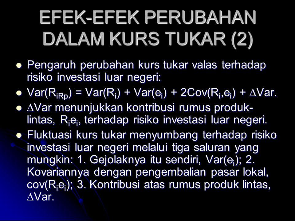EFEK-EFEK PERUBAHAN DALAM KURS TUKAR (2)