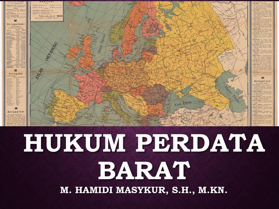 HUKUM pERDATA BARAT m. Hamidi masykur, S.H., M.KN.