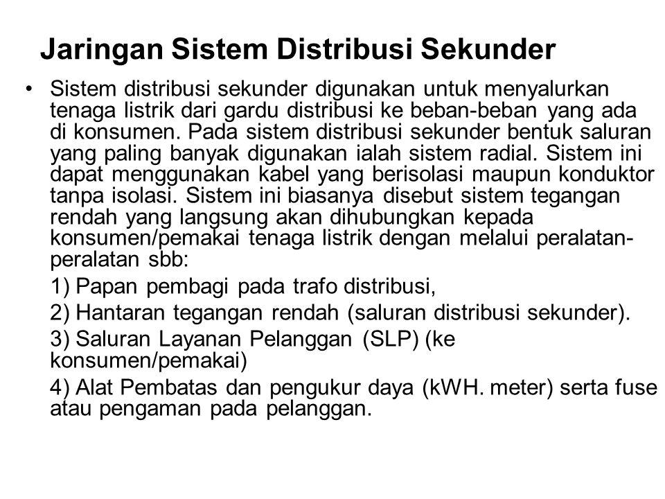 Jaringan Sistem Distribusi Sekunder