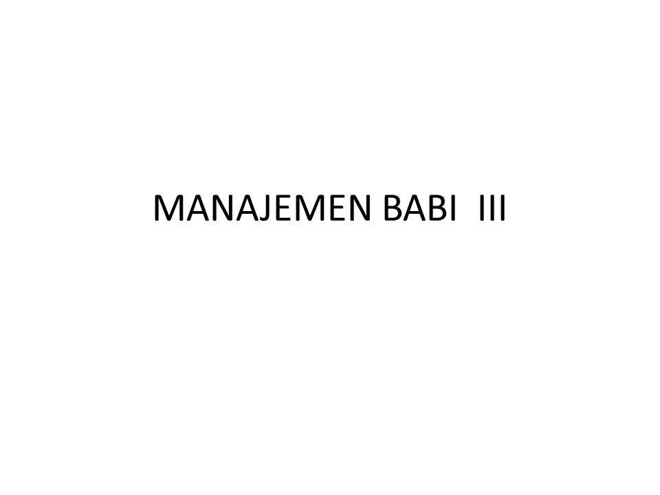 MANAJEMEN BABI III