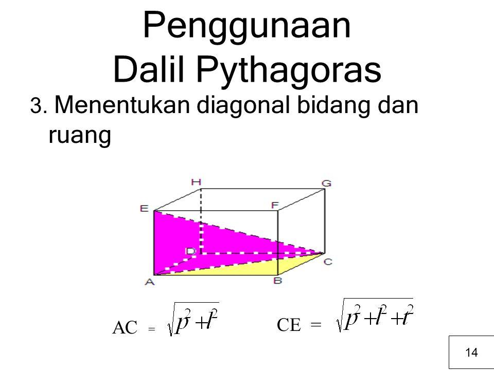 Penggunaan Dalil Pythagoras