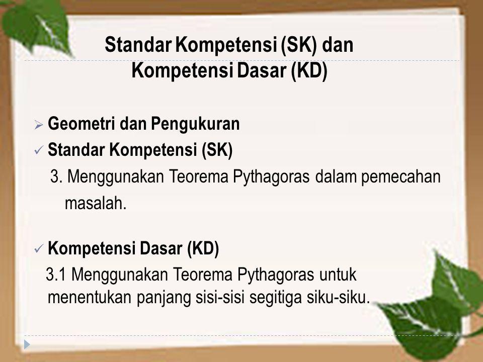 Standar Kompetensi (SK) dan Kompetensi Dasar (KD)