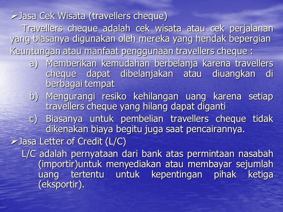 Jasa Cek Wisata (travellers cheque)