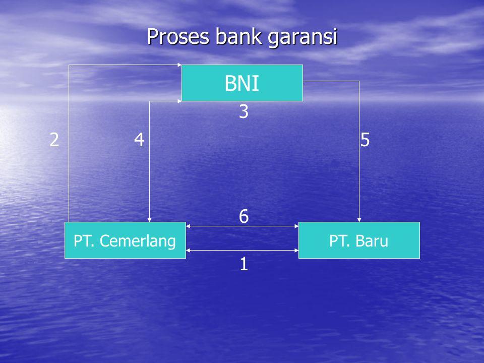 Proses bank garansi BNI 3 2 4 5 6 PT. Cemerlang PT. Baru 1