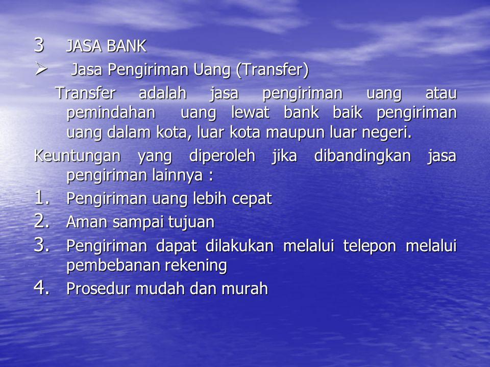 JASA BANK Jasa Pengiriman Uang (Transfer)