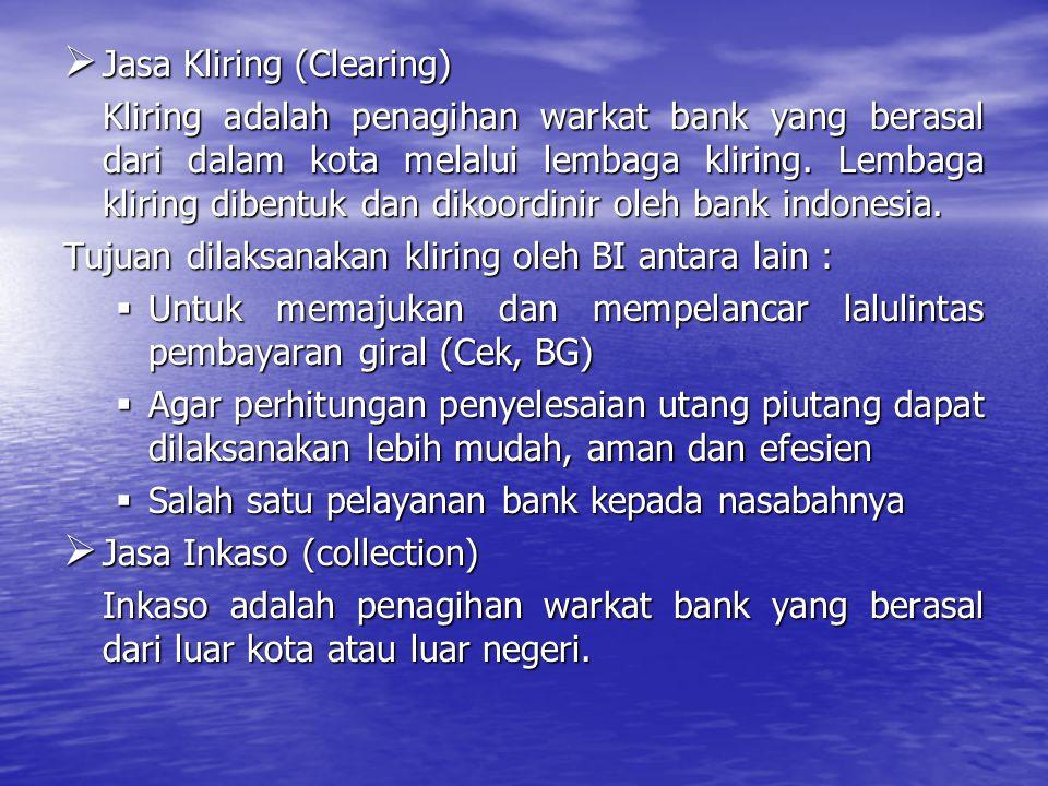Jasa Kliring (Clearing)