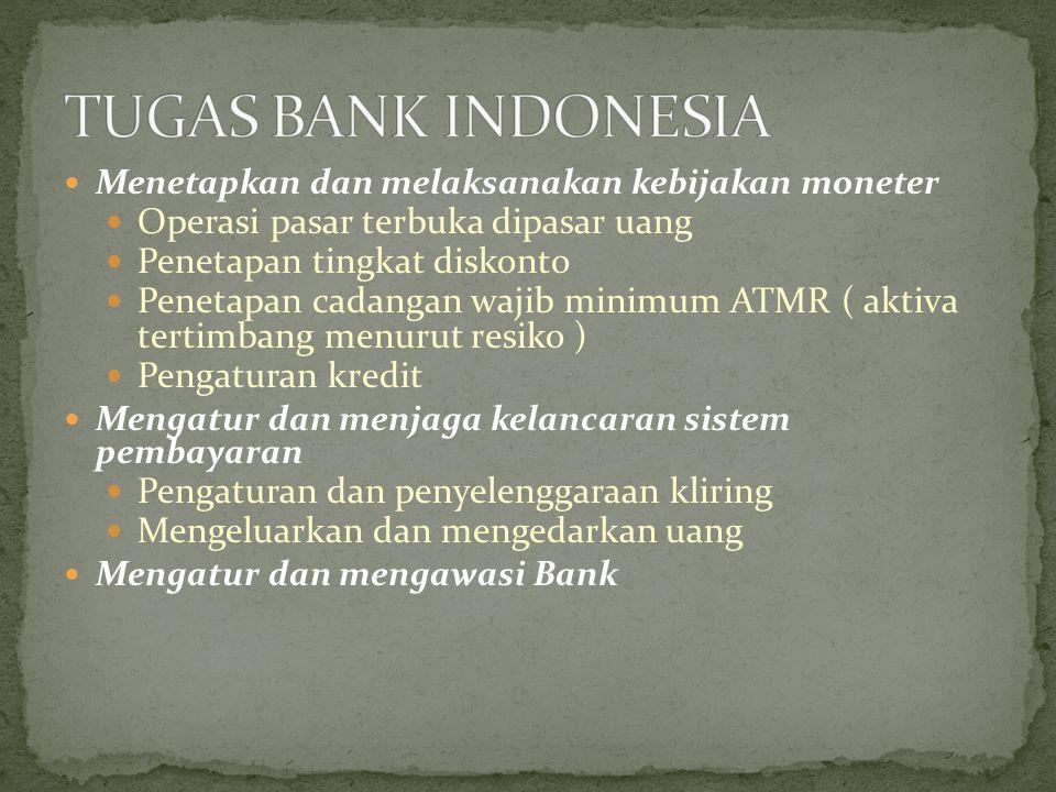TUGAS BANK INDONESIA Operasi pasar terbuka dipasar uang