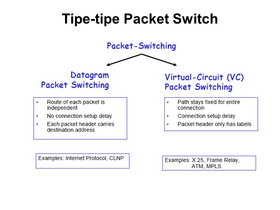 Tipe-tipe Packet Switch