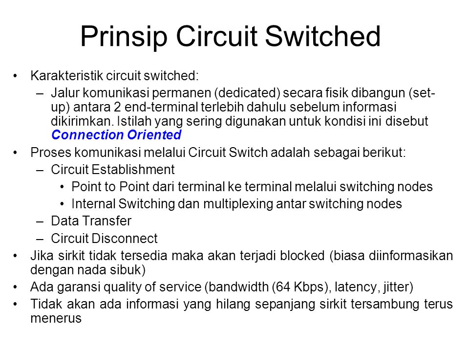Prinsip Circuit Switched
