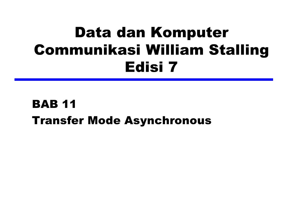 Data dan Komputer Communikasi William Stalling Edisi 7