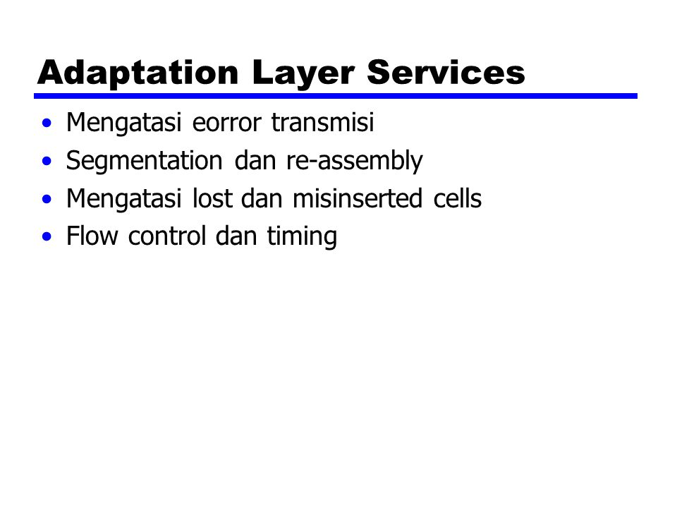 Adaptation Layer Services