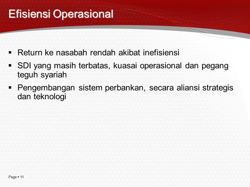 Efisiensi Operasional