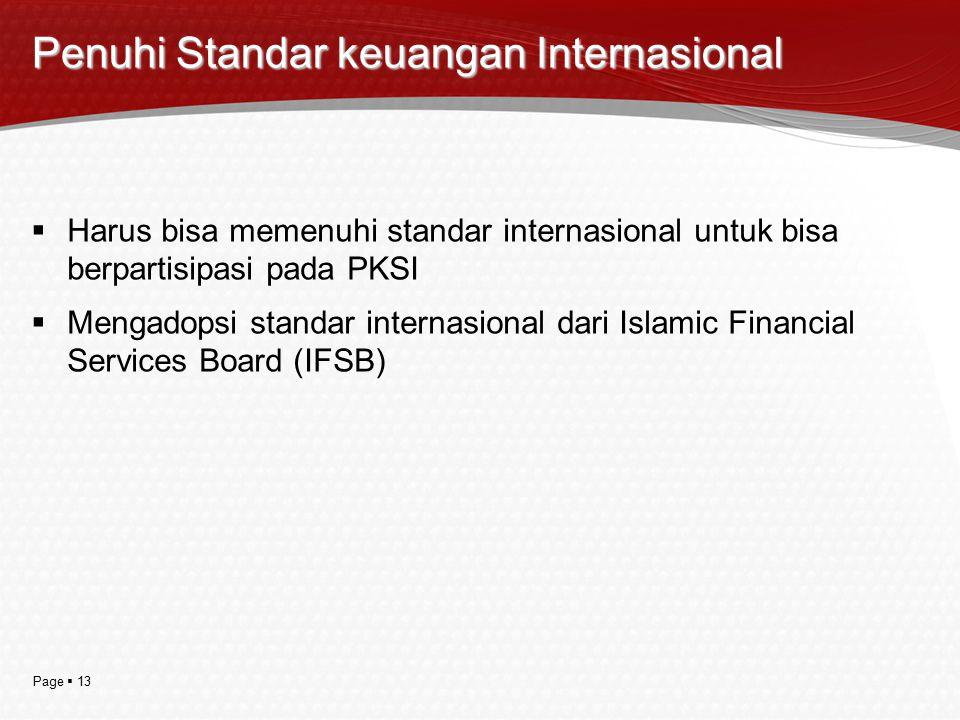 Penuhi Standar keuangan Internasional