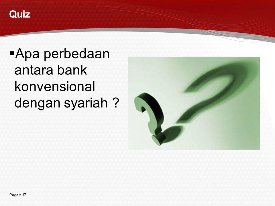 Apa perbedaan antara bank konvensional dengan syariah