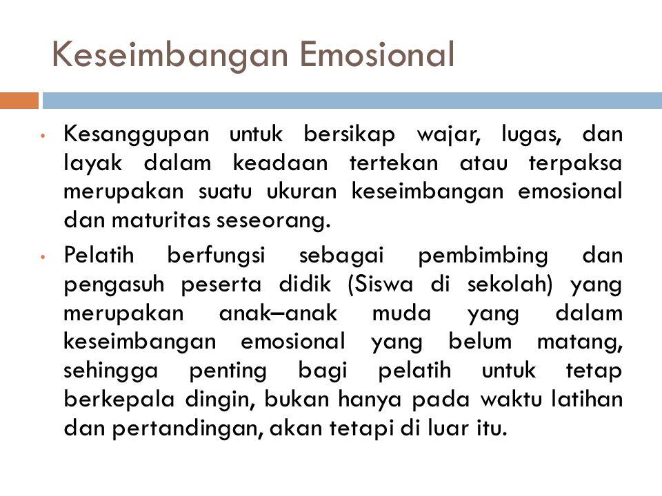 Keseimbangan Emosional
