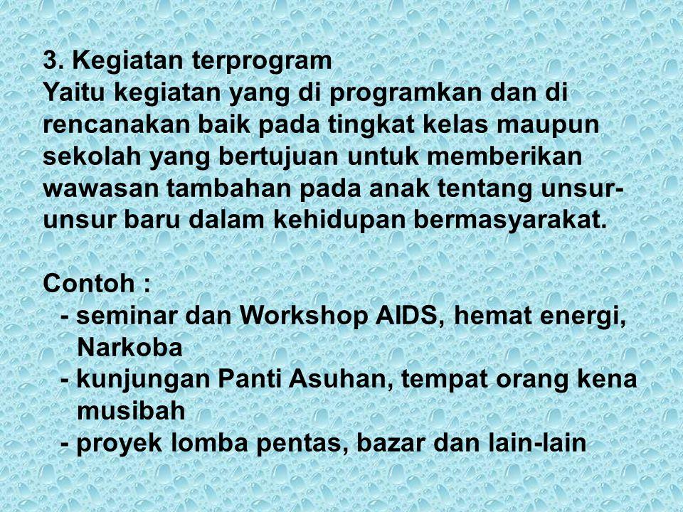 3. Kegiatan terprogram