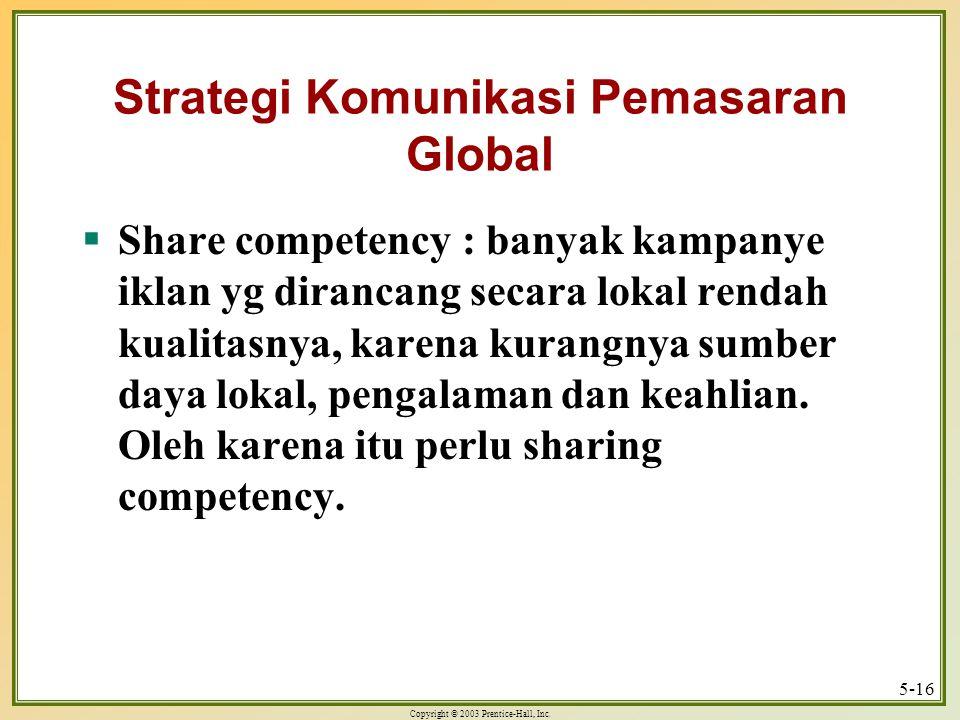 Strategi Komunikasi Pemasaran Global