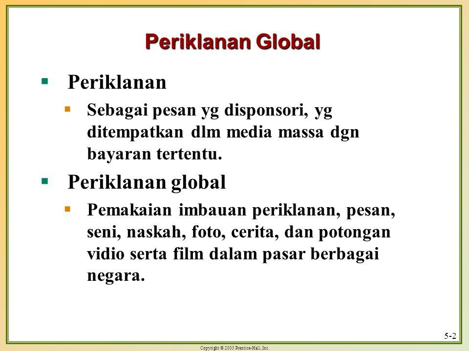 Periklanan Global Periklanan Periklanan global