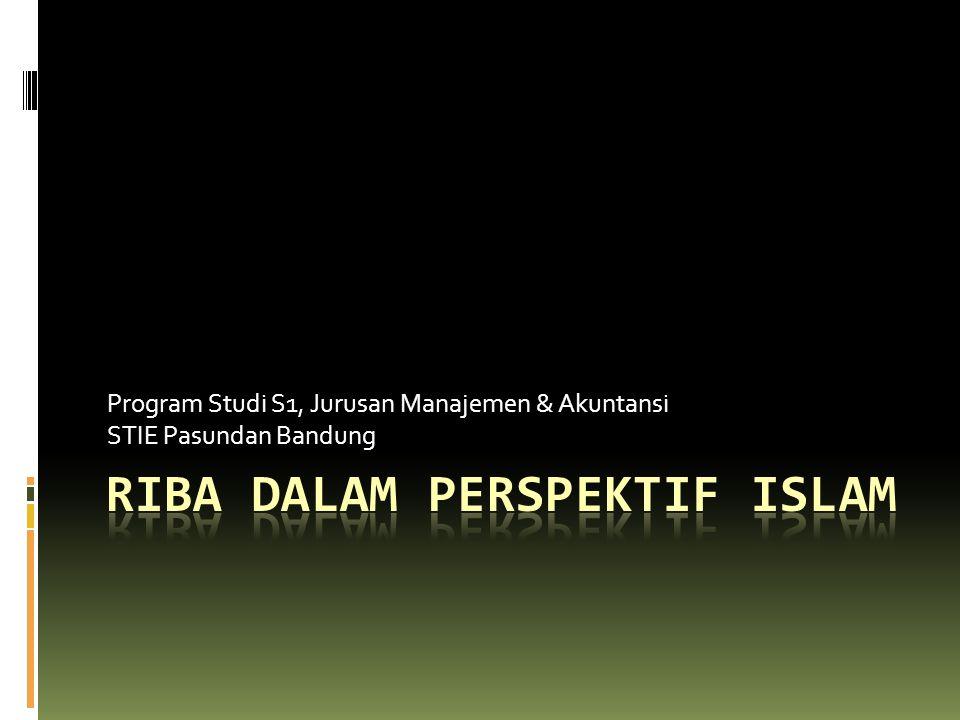 RIBA DALAM PERSPEKTIF ISLAM