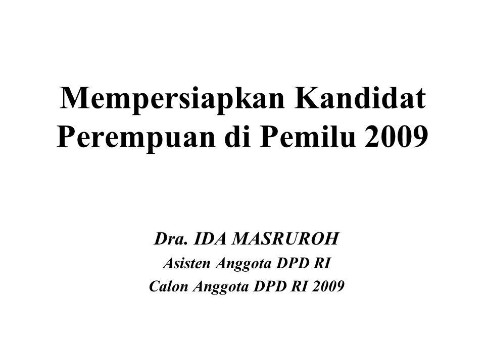 Mempersiapkan Kandidat Perempuan di Pemilu 2009