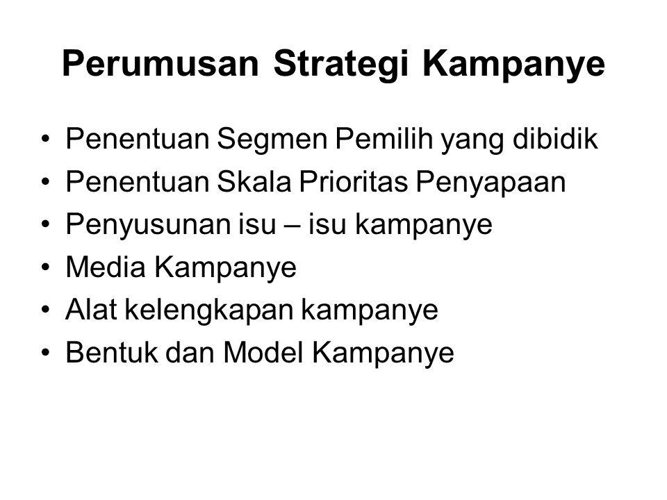 Perumusan Strategi Kampanye