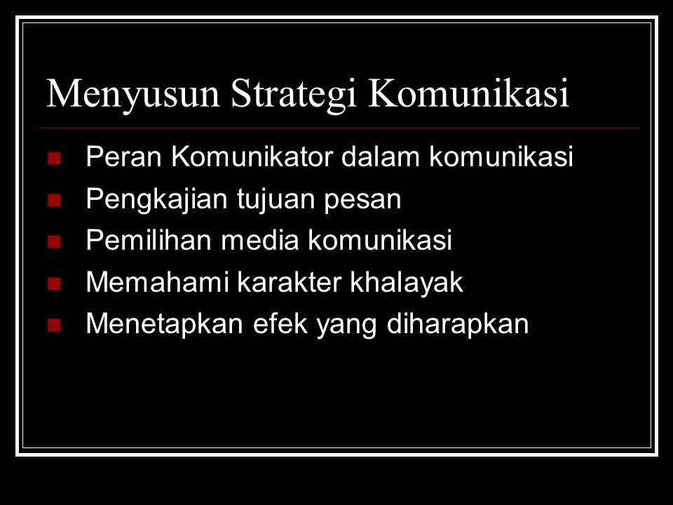 Menyusun Strategi Komunikasi