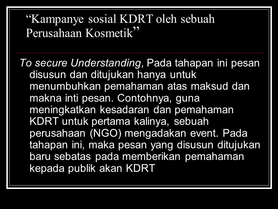 Kampanye sosial KDRT oleh sebuah Perusahaan Kosmetik