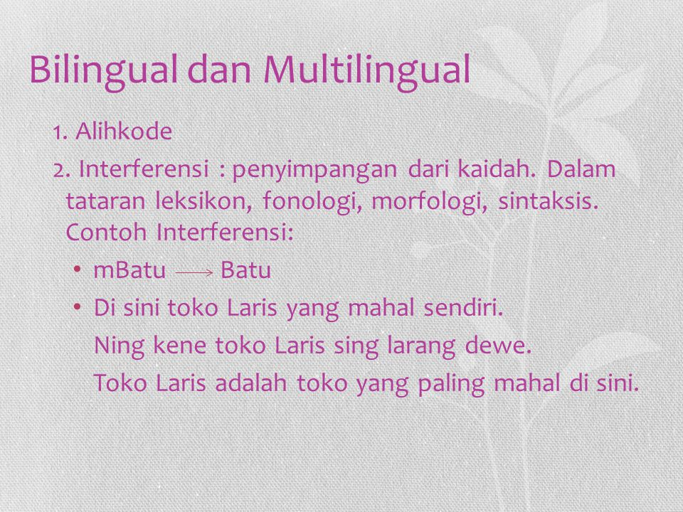 Bilingual dan Multilingual