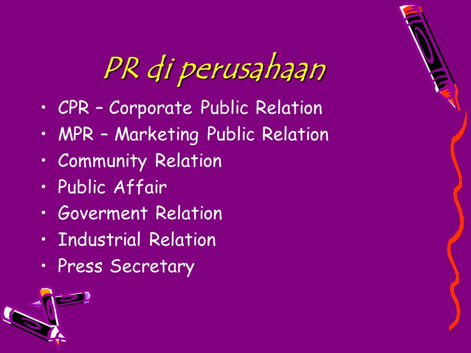 PR di perusahaan CPR – Corporate Public Relation