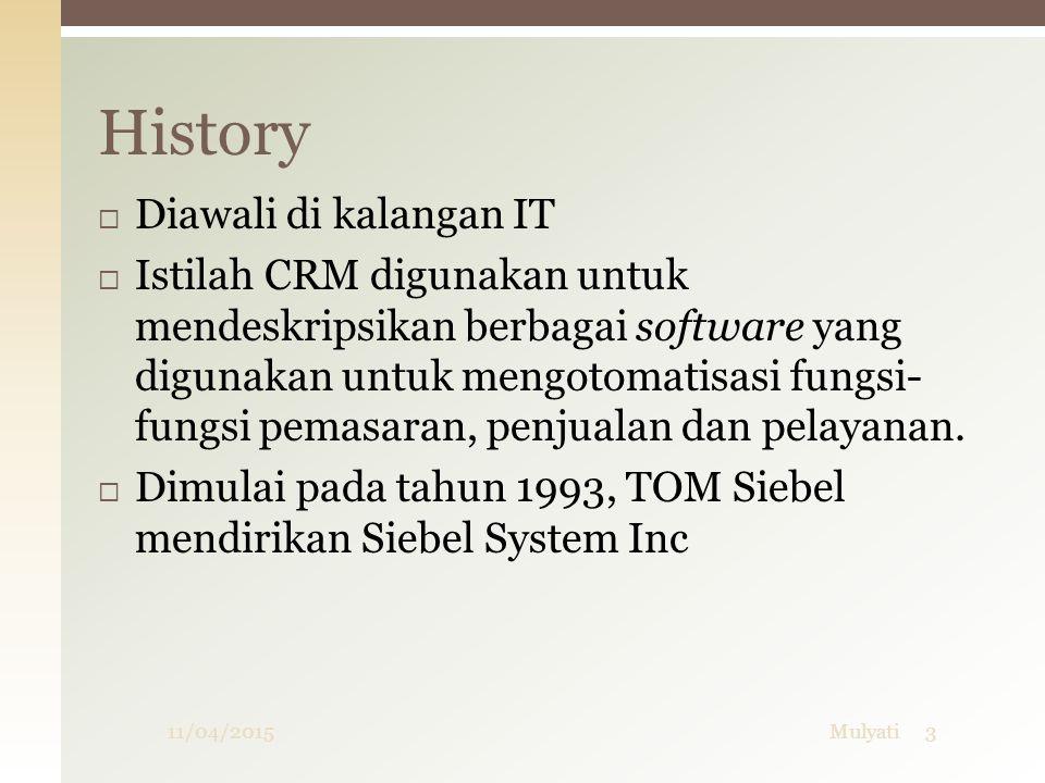 History Diawali di kalangan IT
