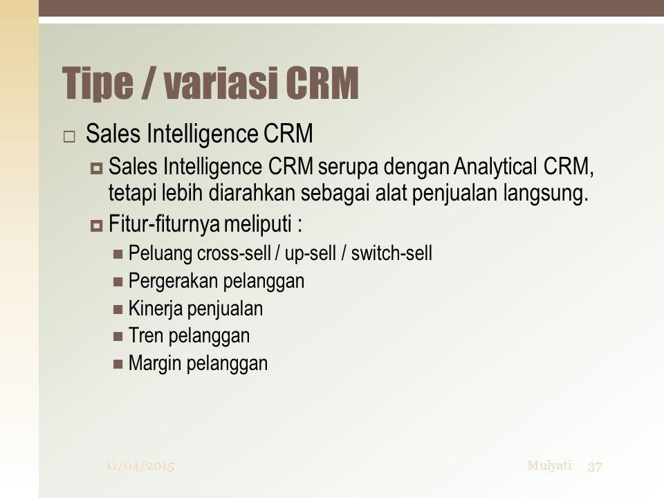 Tipe / variasi CRM Sales Intelligence CRM