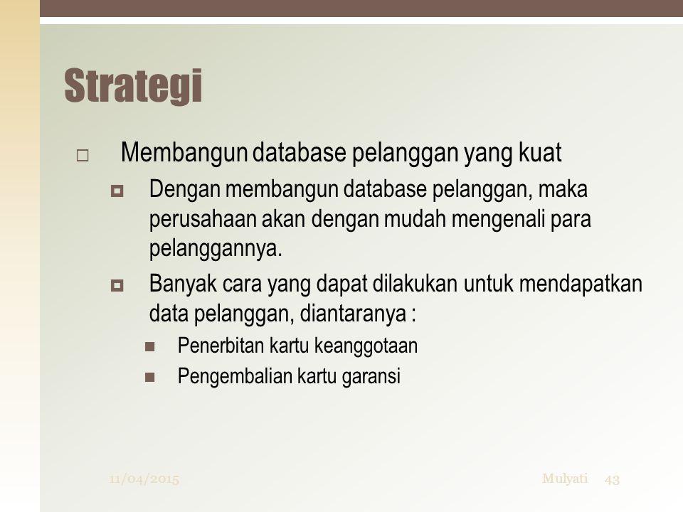 Strategi Membangun database pelanggan yang kuat