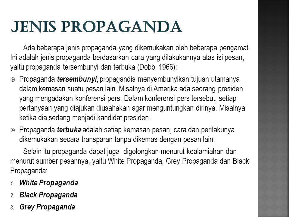 Jenis propaganda