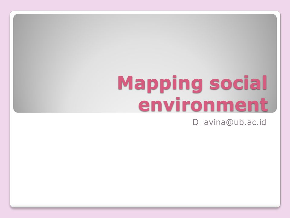 Mapping social environment