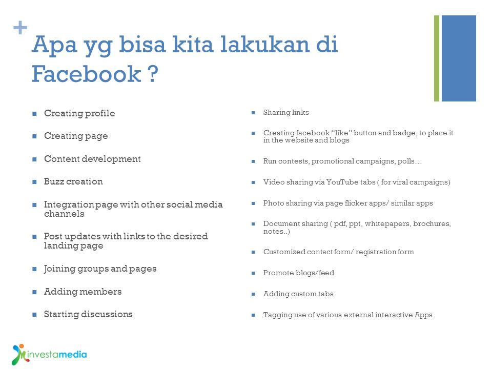 Apa yg bisa kita lakukan di Facebook