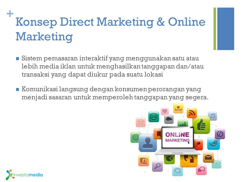 Konsep Direct Marketing & Online Marketing