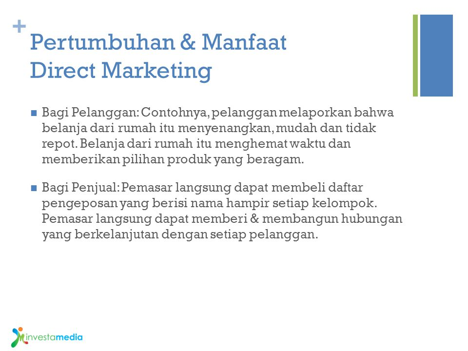 Pertumbuhan & Manfaat Direct Marketing