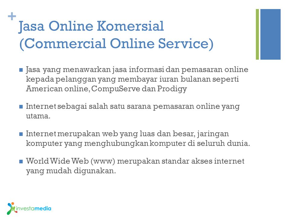Jasa Online Komersial (Commercial Online Service)