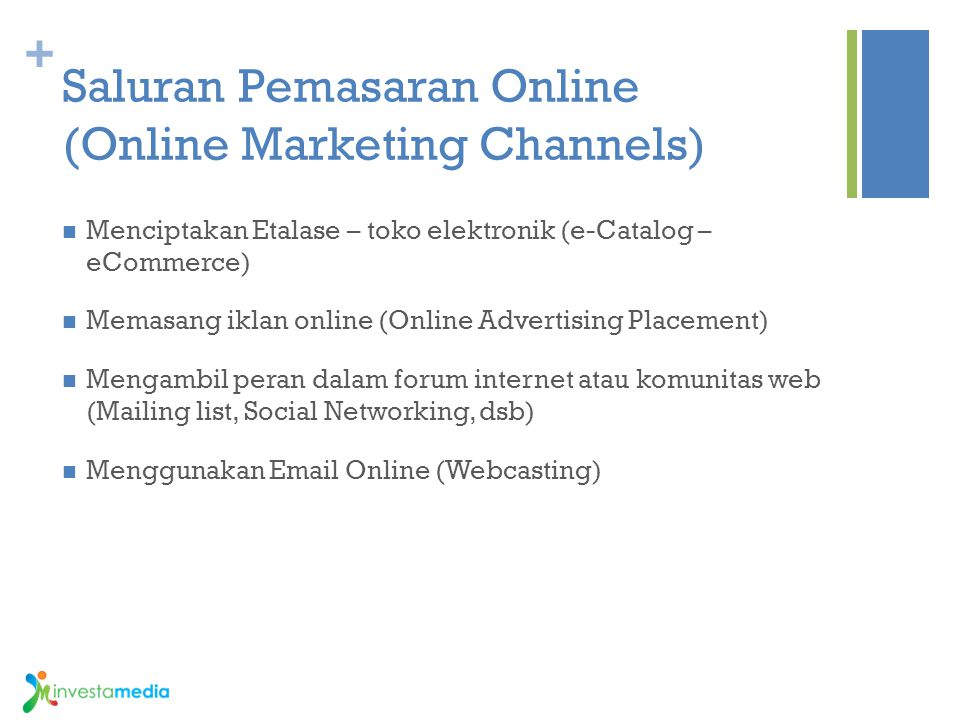 Saluran Pemasaran Online (Online Marketing Channels)