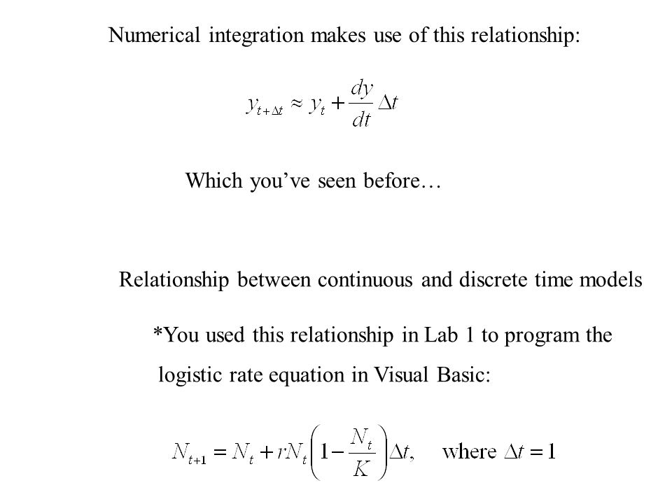 Numerical integration makes use of this relationship: