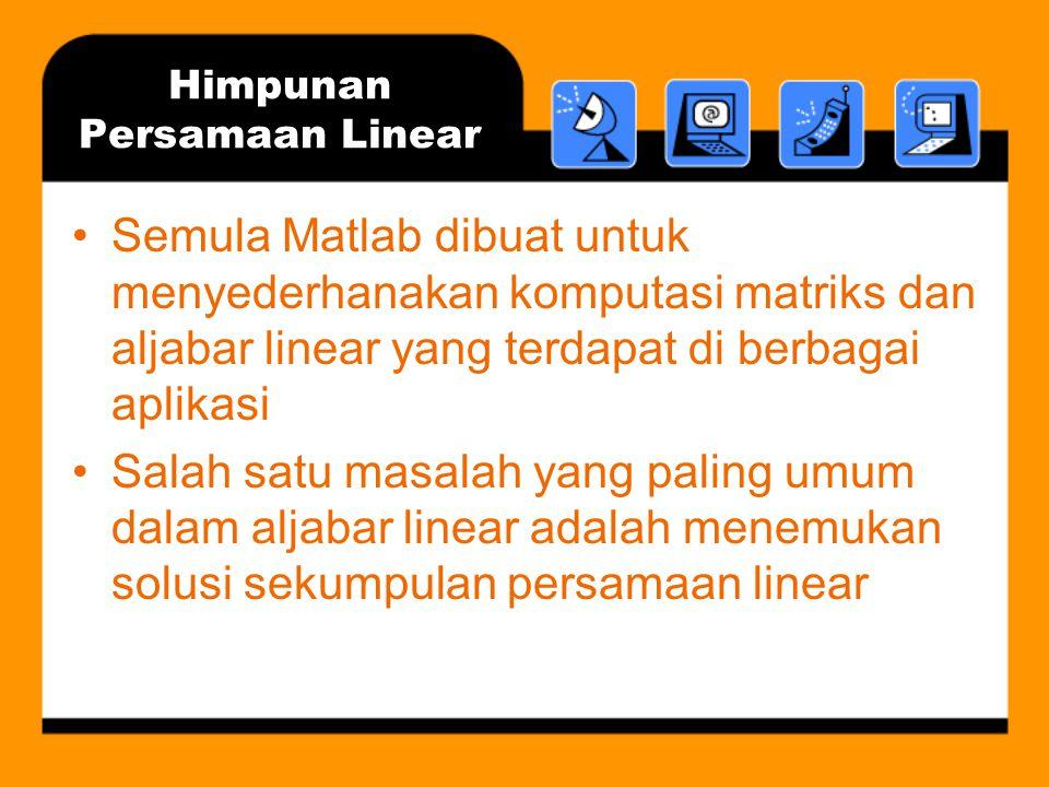 Himpunan Persamaan Linear
