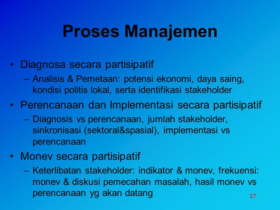 Proses Manajemen Diagnosa secara partisipatif
