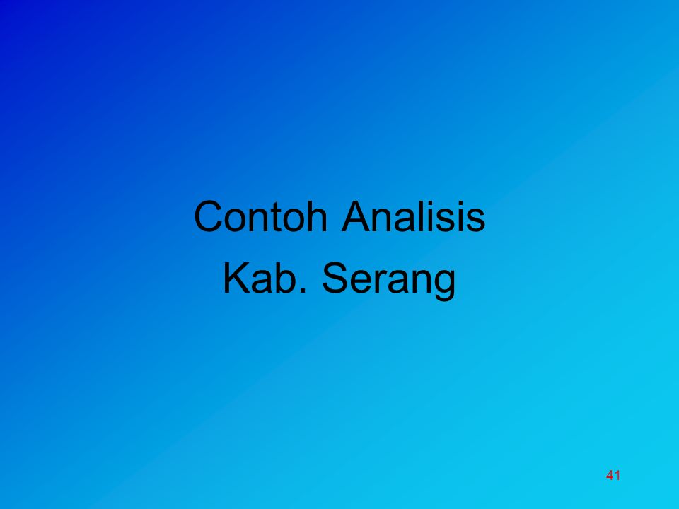 Contoh Analisis Kab. Serang