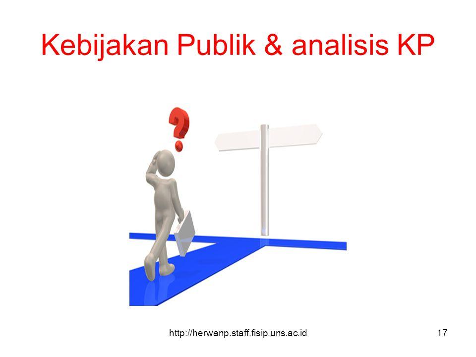 Kebijakan Publik & analisis KP