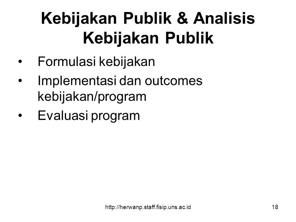Kebijakan Publik & Analisis Kebijakan Publik