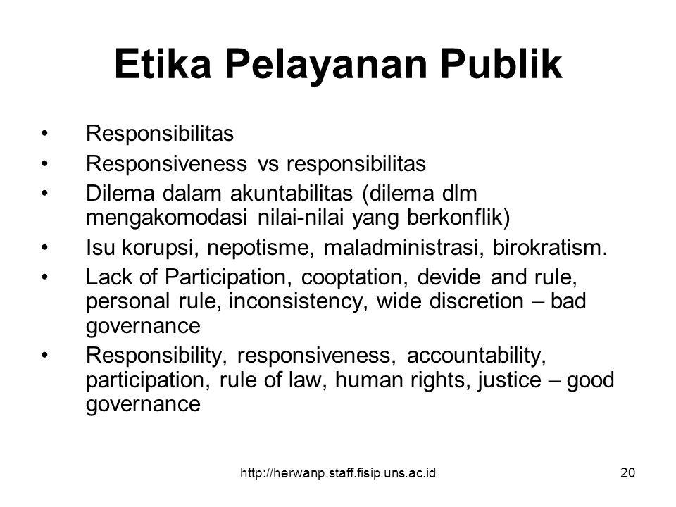 Etika Pelayanan Publik
