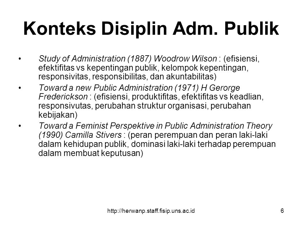 Konteks Disiplin Adm. Publik